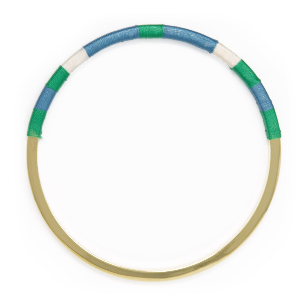 Color Block Woven Bangle