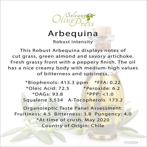 Arbequina California Premium Extra Virgin Olive Oil