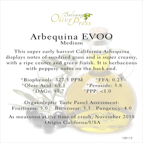 Arbequina California Ultra Premium Extra Virgin Olive Oil