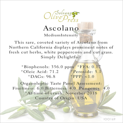 Ascolano California Ultra Premium Extra Virgin Olive Oil