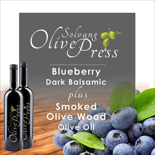 Blueberry Dark Balsamic and Olive Wood Smoked Infused Olive Oil