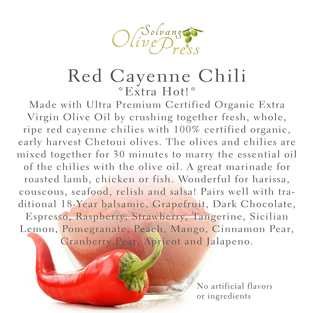 Cayenne Chili Fused (Agrumato) Olive Oil