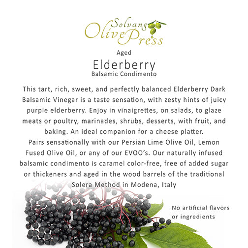 Elderberry Dark Balsamic Vinegar