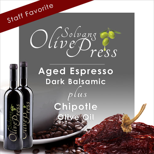 Espresso Balsamic Vinegar and Chipotle Olive Oil