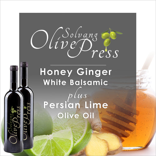Honey Ginger Balsamic Vinegar and Persian Lime Olive Oil