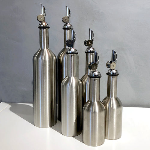 Minox Stainless Steel Cruet Bottles for Olive Oil