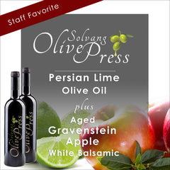 Apple Balsamic Vinegar and Persian Lime Olive Oil