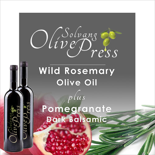 Pomegranate Balsamic Vinegar and Rosemary Olive Oil