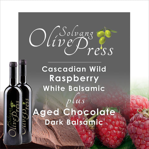 Raspberry Balsamic Vinegar and Dark Chocolate Balsamic Vinegar