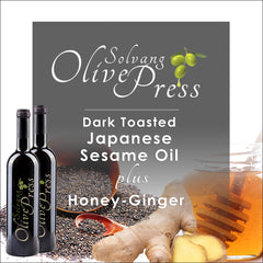 Roasted Sesame Oil and Honey Ginger White Balsamic Vinegar