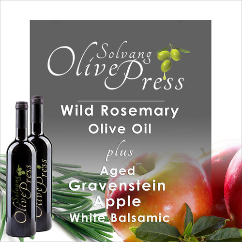 Apple Balsamic Vinegar and Rosemary Olive Oil