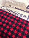 Flanelle Buffalo plaid rouge carreaux noirs