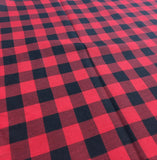 100% coton Buffalo plaid