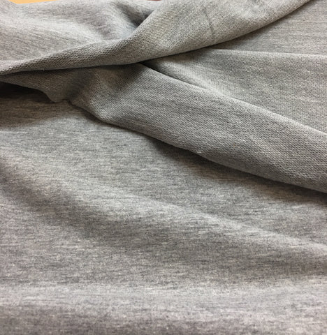 French Terry coton lycra gris chiné