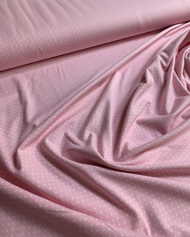 Jersey petit pois baby pink