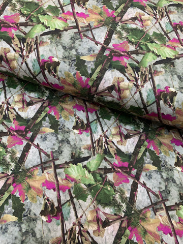 100% coton camouflage accent rose