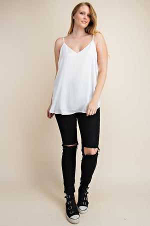 Ivory Adjustable Strap Camisole Top