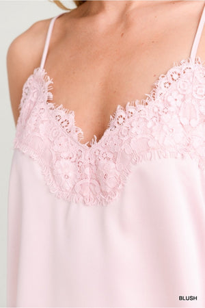 Stretchy Lace Camisole Tank