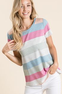 BomBom Striped Tee
