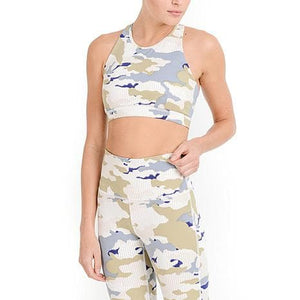 Pastel Striped Camo Highwaist Leggings