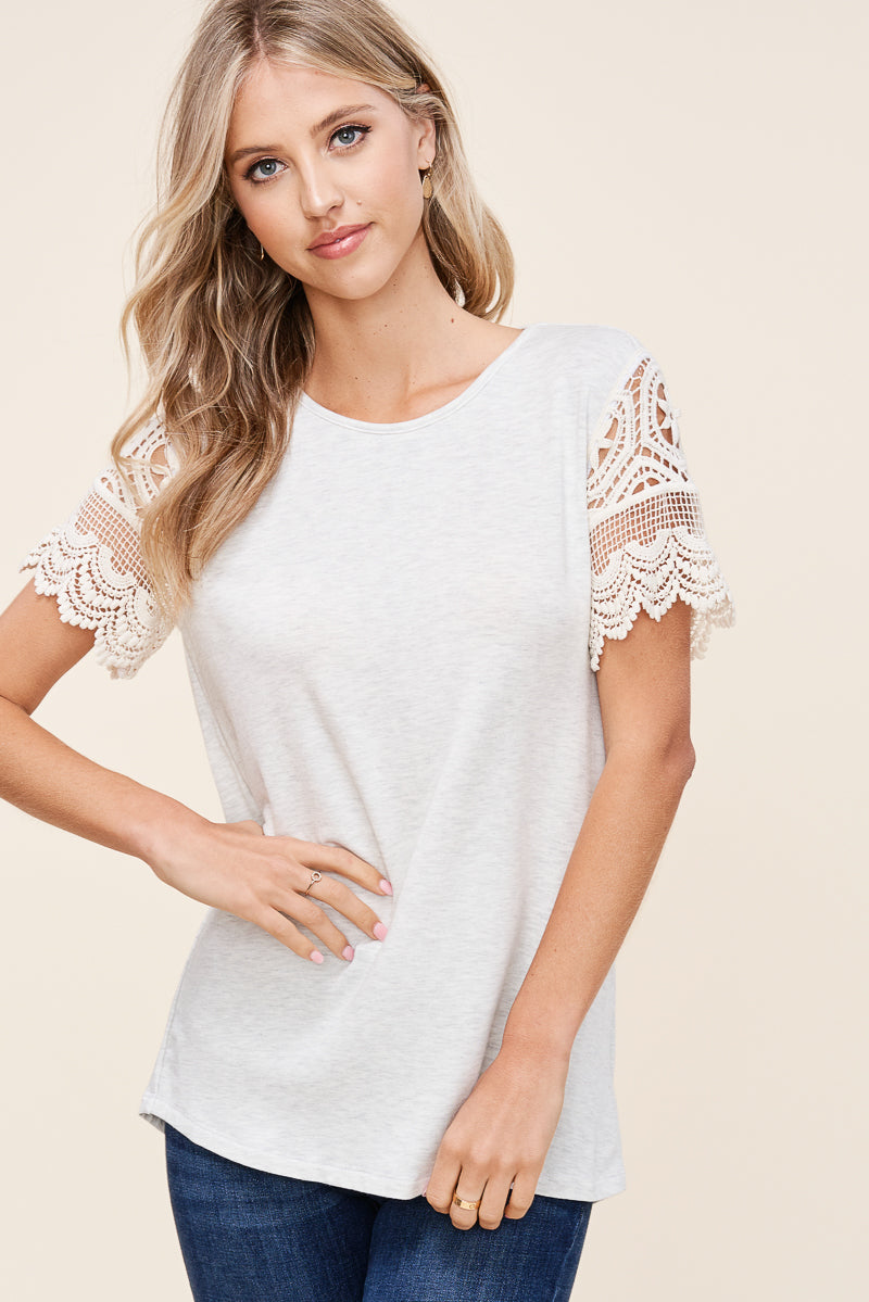 Crochet Lace Terry Top