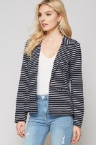 Navy Knit Blazer