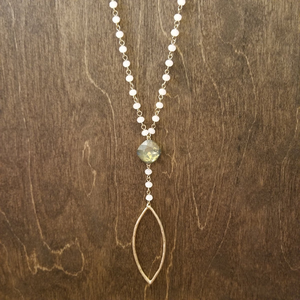 Pink Short Lariat Necklace