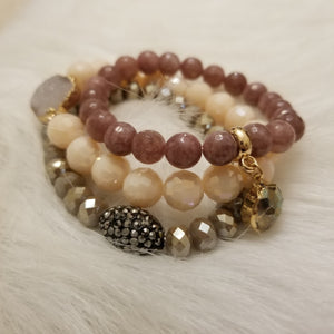 Romantic Blush Bracelet Stack