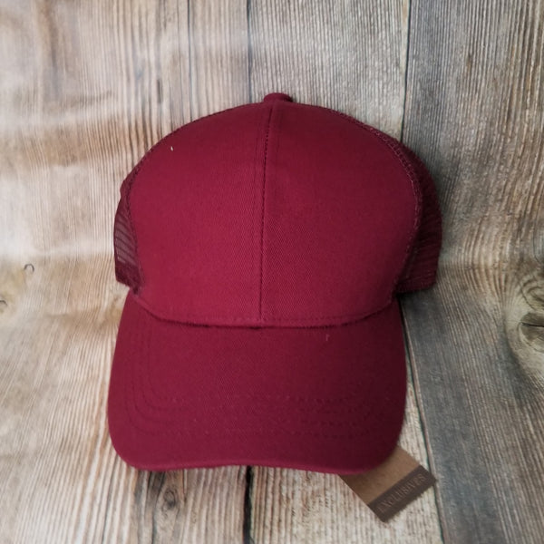 Wine High Pony Hat