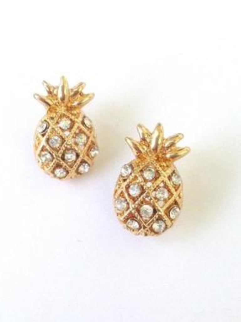 Pineapple of my Eye Stud Earrings