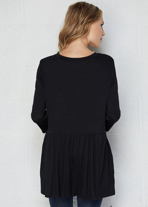 Empire Waist 3/4 Sleeve Top