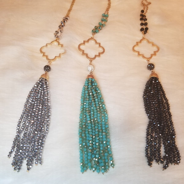 Beaded Tassel Necklace
