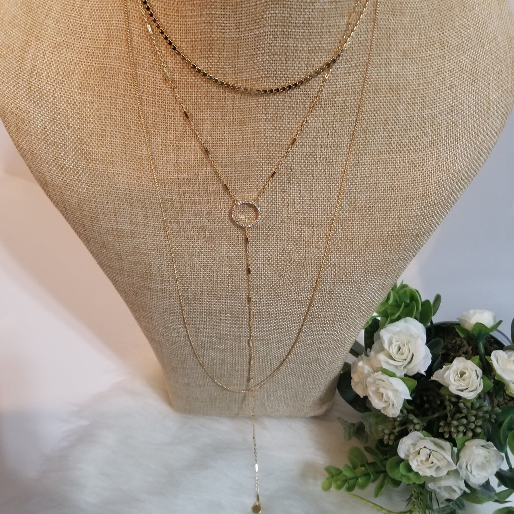 Layered Gold Circle Necklace