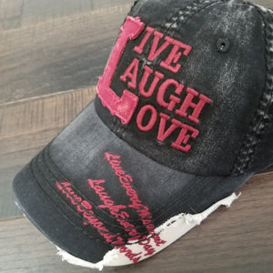 Live,  Laugh, Love Baseball Cap