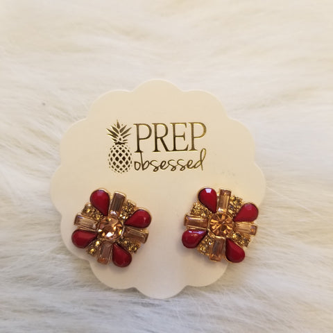 Pomegranate Stud Earrings