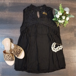 Tank Blouse with Lace Detail