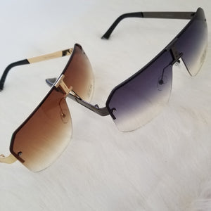 Mask Rimless Sunglasses