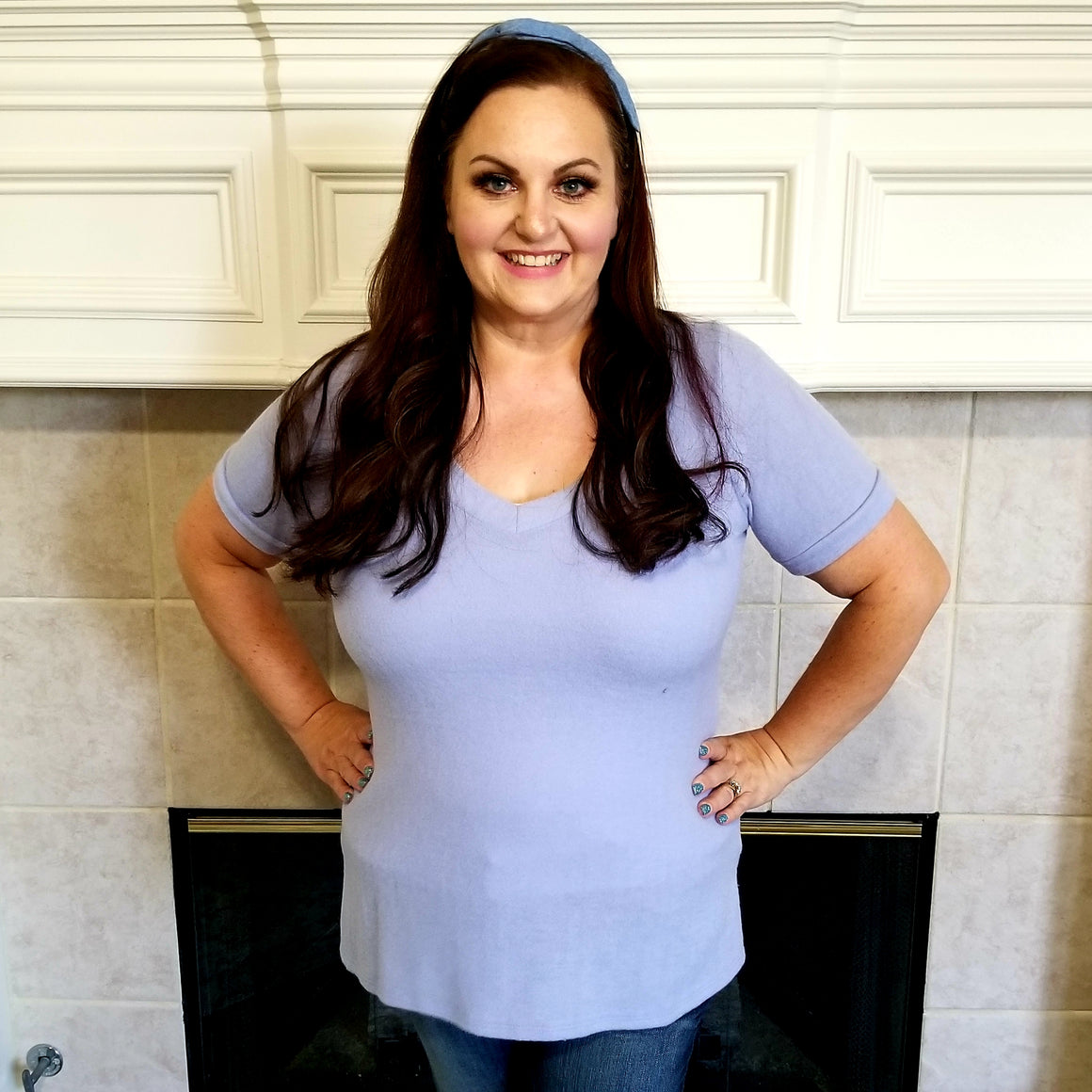 Soft Periwinkle Blue Top