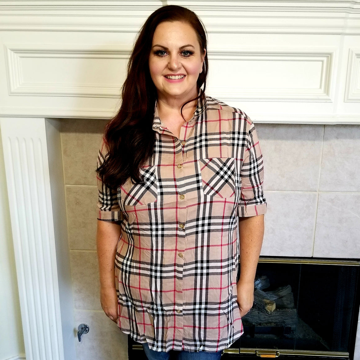 Burberry Pattern Plaid Top