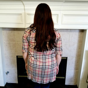 Plaid Pattern Top