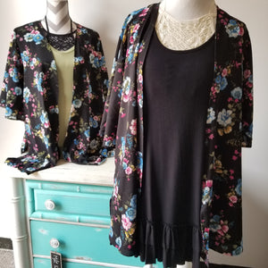 Pop of Color Floral Kimono