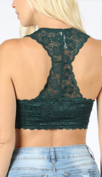 Lace Hourglass Back Bralette