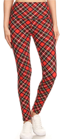 Holiday Yoga Band Leggings