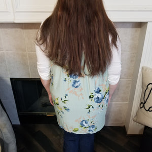 Three Quarter Sleeve Floral Back Top