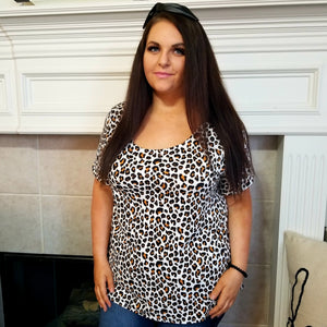 Leopard Top with Back Detail