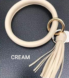 Vegan Leather Bracelet Bangle Keyring