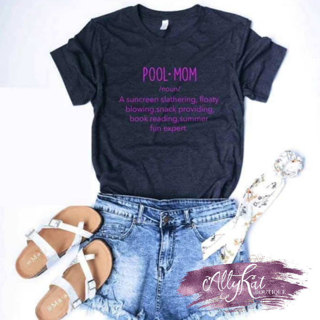 Pool Mom Graphic Tee