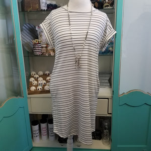 Navy and White Stripe Day Dress