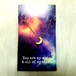 You Are My Moon and All of My Stars Necklace