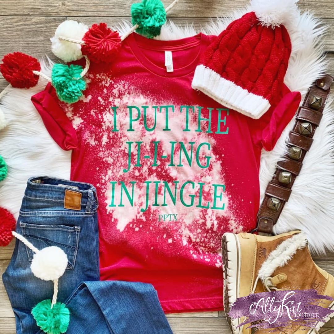 I PUT THE JI-I-ING IN JINGLE Graphic Tee